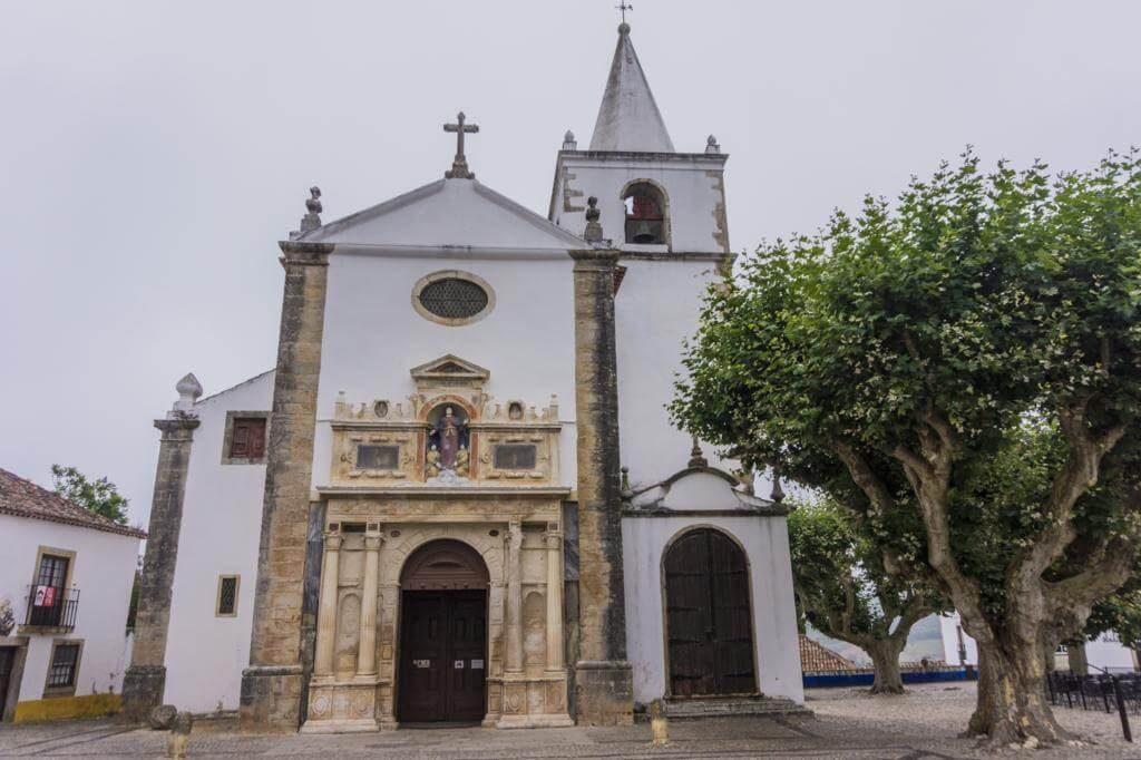 Iglesia de Santa María en Óbidos.