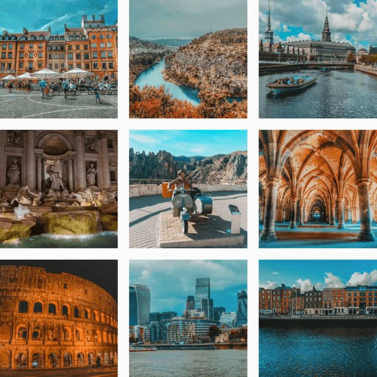 Instagram de Europeos Viajeros
