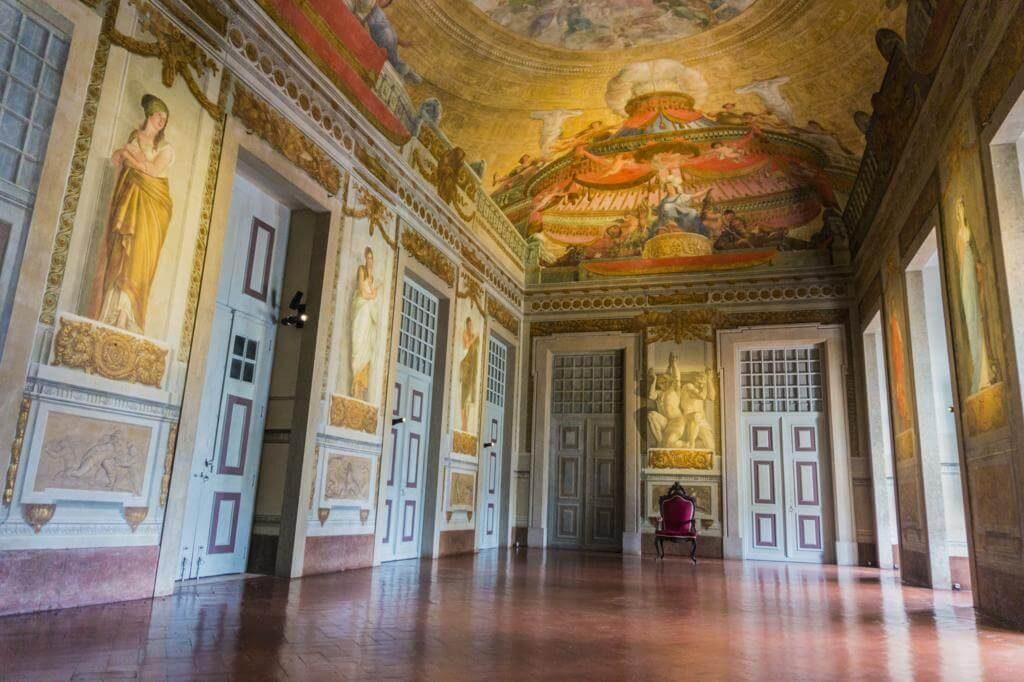 Interior del Palacio Nacional de Mafra.