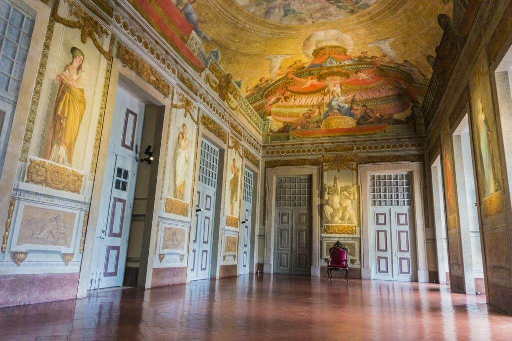 Interior del Palacio de Mafra.
