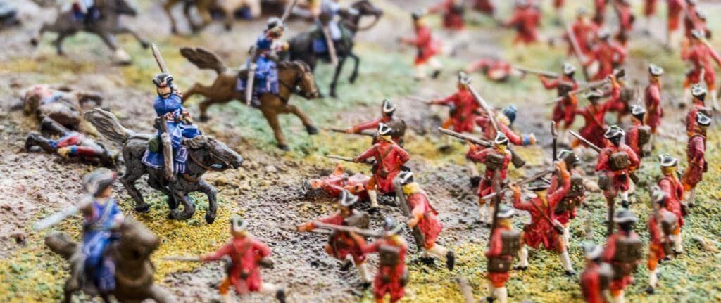 Maqueta en el Museo de la Batalla de Almansa.