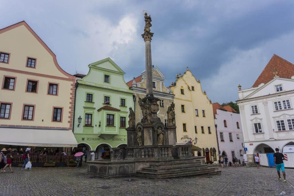 Plaza de la Concordia en Cesky Krumlov.