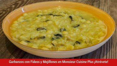 Garbanzos con Fideos y Mejillones en Monsieur Cuisine Plus