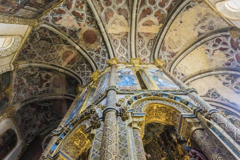 Interior del Castillo/Convento de Cristo en Tomar.