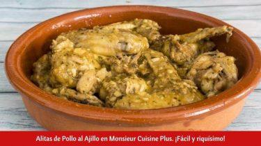 Alitas de Pollo al Ajillo en Monsieur Cuisine Plus