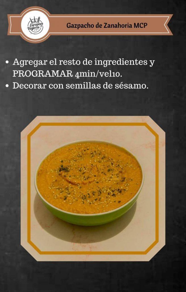 Receta de Gazpacho de Zanahoria.