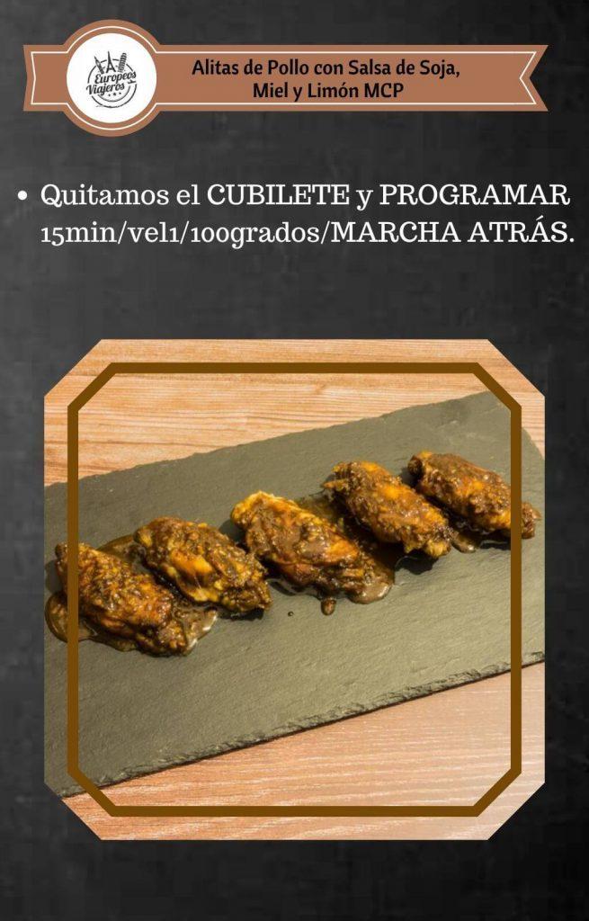 Receta de Alitas de Pollo con Salsa de Soja Miel y Limón
