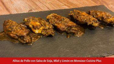 Alitas de Pollo con Salsa de Soja, Miel y Limón en Monsieur Cuisine Plus