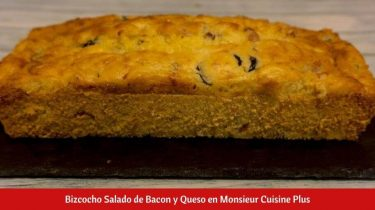 Bizcocho Salado de Bacon y Queso en Monsieur Cuisine Plus