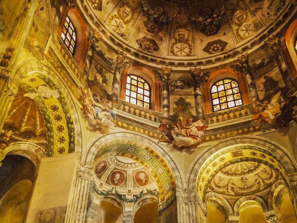 Mosaicos en la Basilica de San Vital en Rávena.