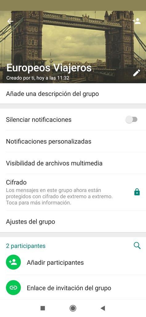 Formas de invitar a personas al grupo de Whatsapp.