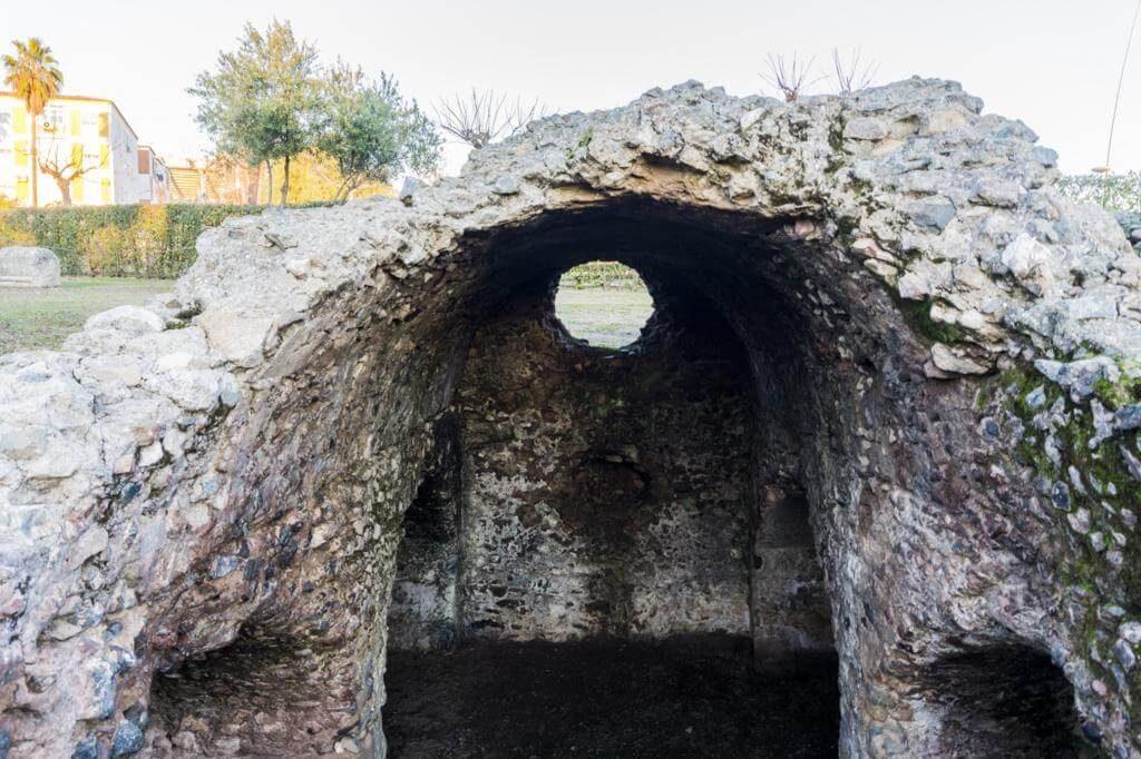 Área funeraria de Los Columbarios en Mérida.