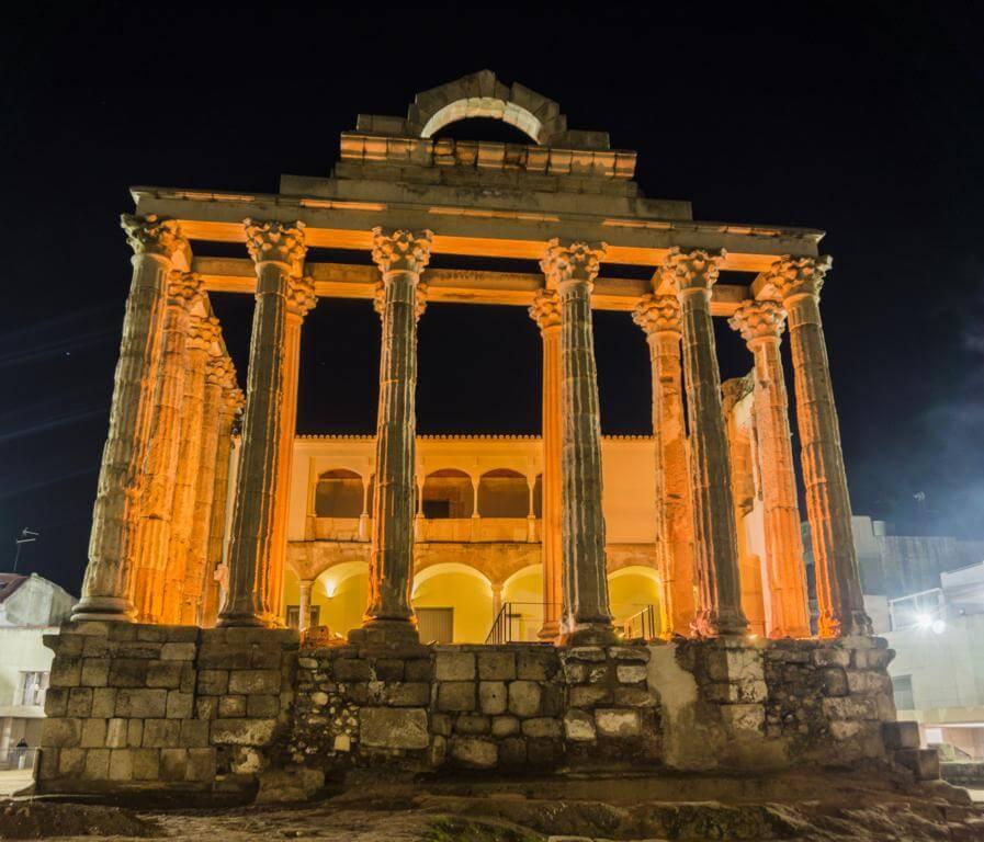 ¿Qué ver en Mérida en dos días? Templo de Diana.
