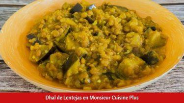 Dhal de Lentejas en Monsieur Cuisine Plus