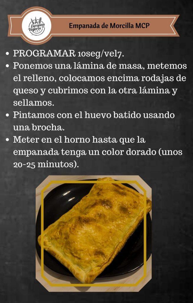 Receta de Empanada de Morcilla.