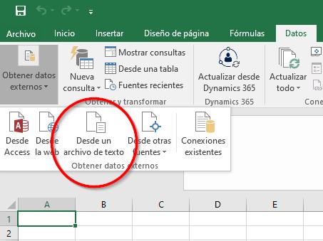Importar el archivo CSV.