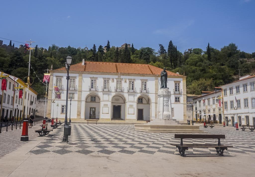 Plaza de la República en Tomar.