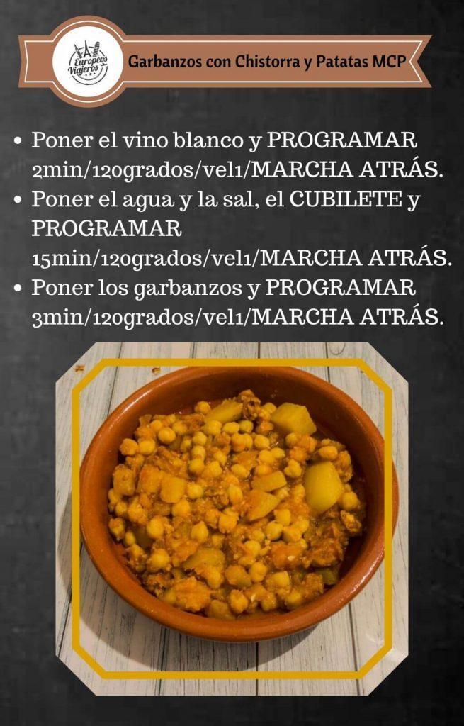 Receta de Garbanzos con Chistorra y Patatas.