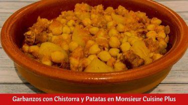 Garbanzos con Chistorra y Patatas en Monsieur Cuisine Plus.