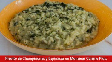 Risotto de Champiñones y Espinacas en Monsieur Cuisine Plus