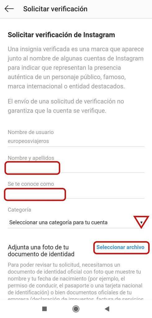 ¿Cómo verificar mi cuenta de Instagram? Rellenamos el formulario.