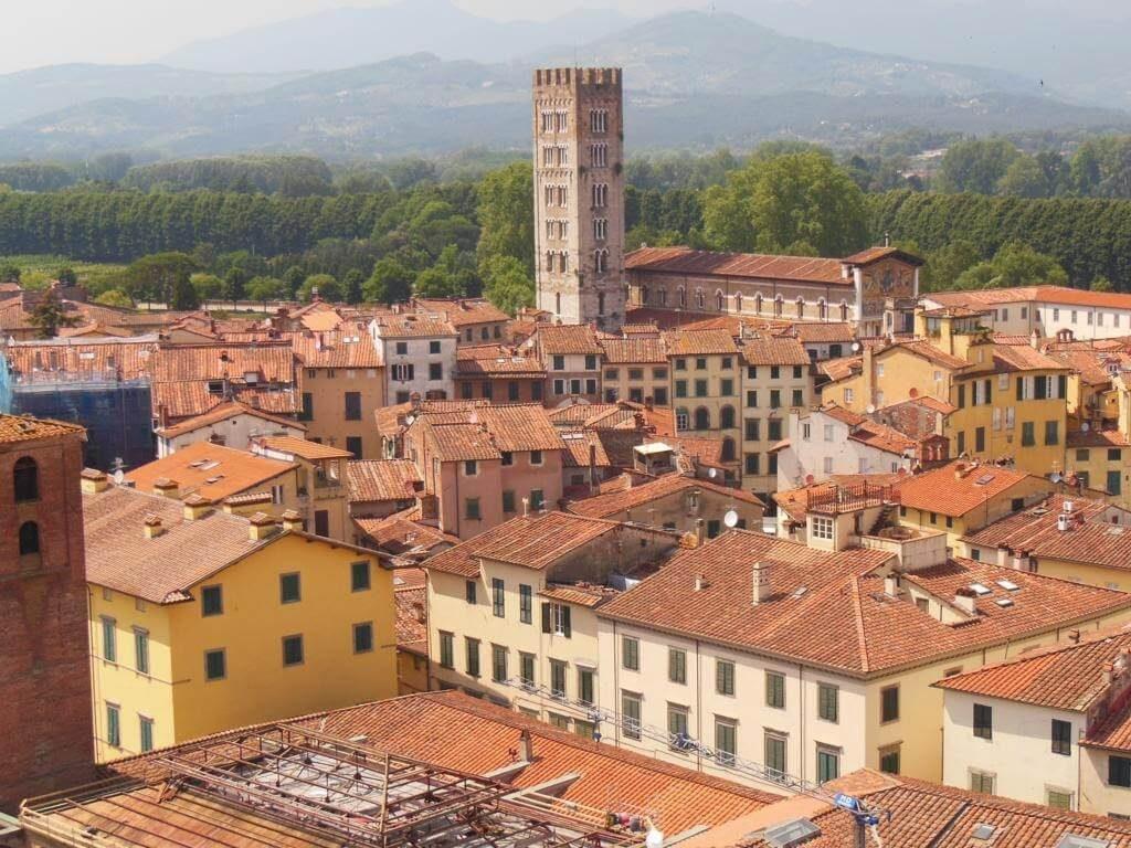 Ciudad de Lucca desde la Torre Guinigi