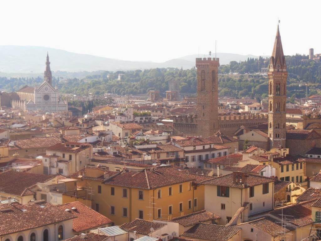 Vistas de Florencia desde el Campanile de Giotto.