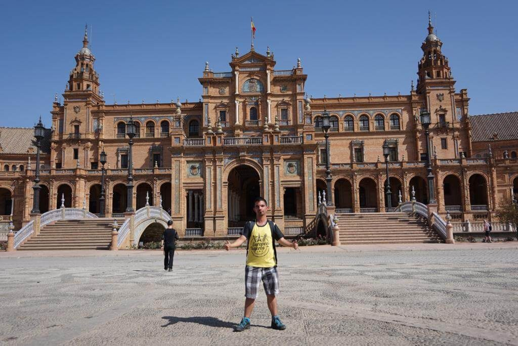Europeos Viajeros en Sevilla.