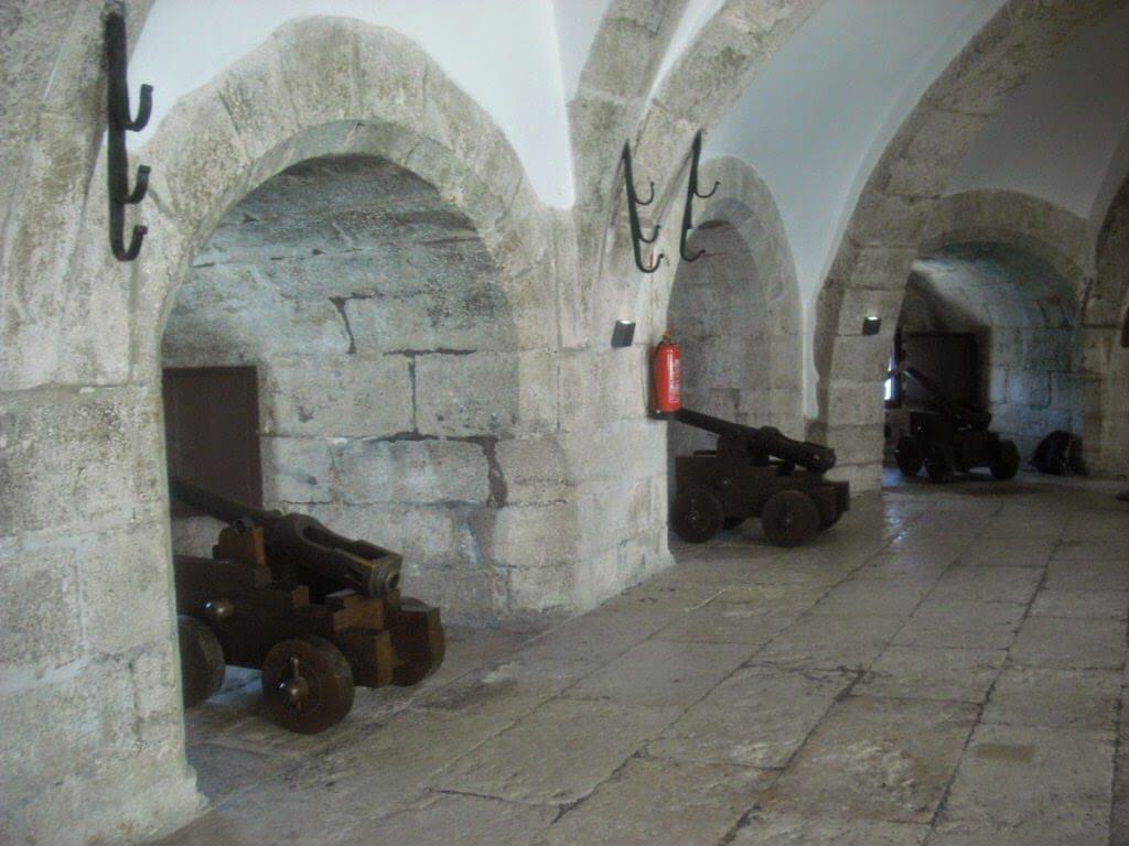 Cañones en la Torre de Belem.