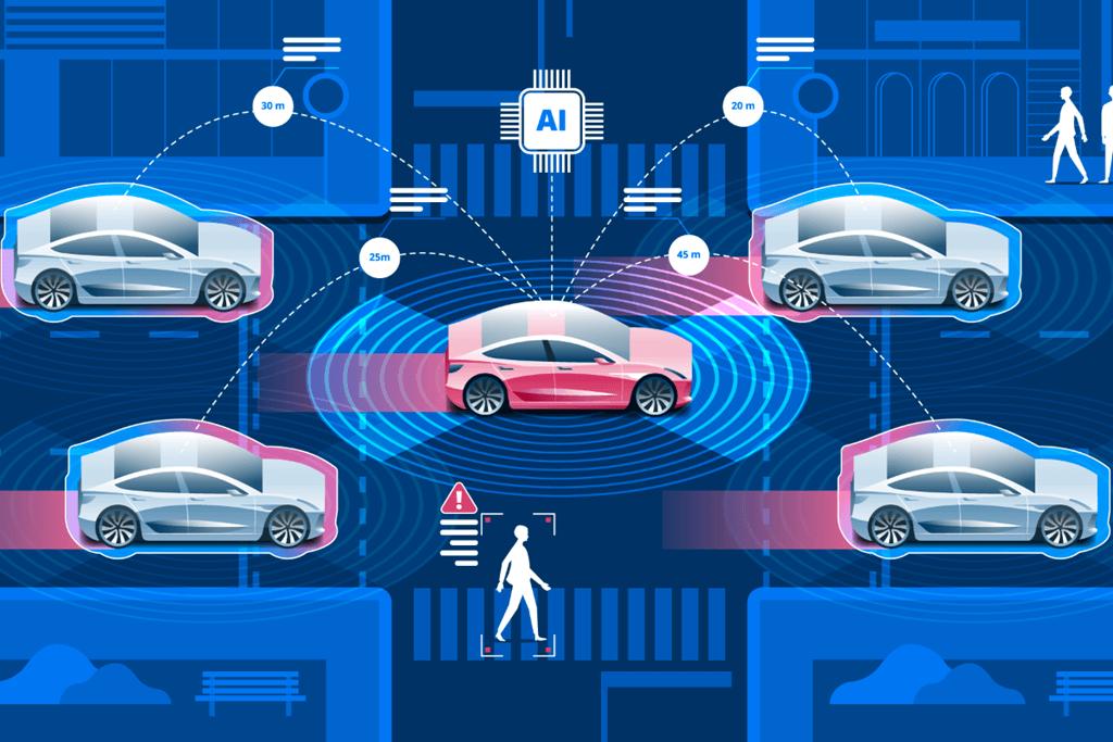 Los vehículos autónomos deberán interactuar con el resto. Imagen: fastdata.io