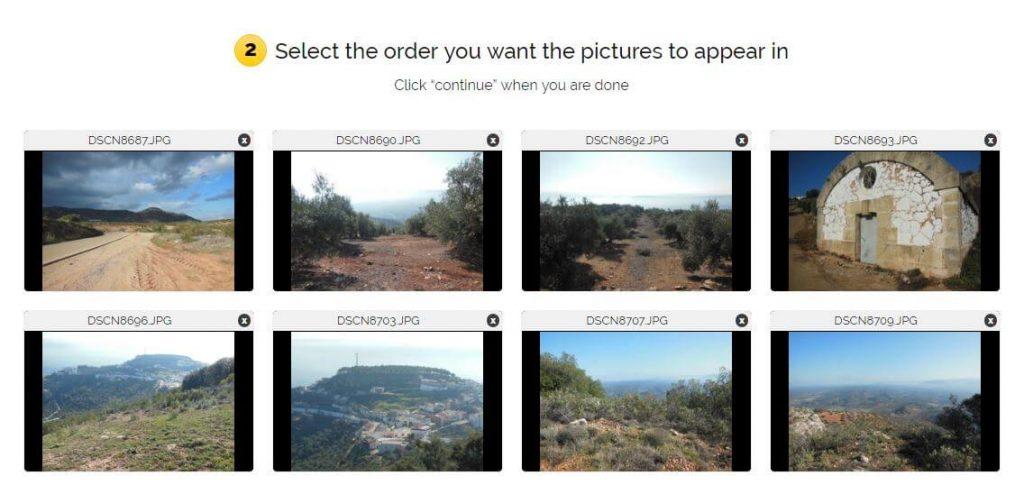 Ordenar las imágenes del gif