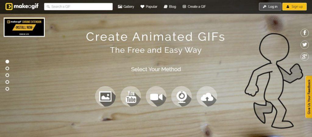 Make A Gif pantalla principal