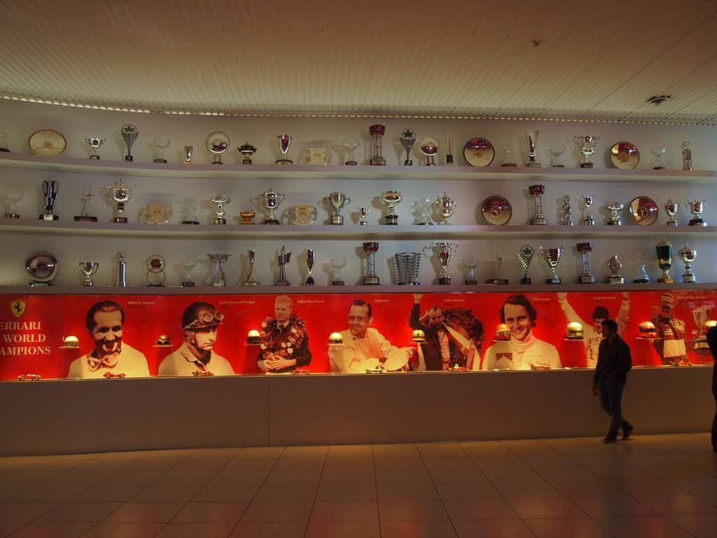 Trofeos en el Museo Ferrari