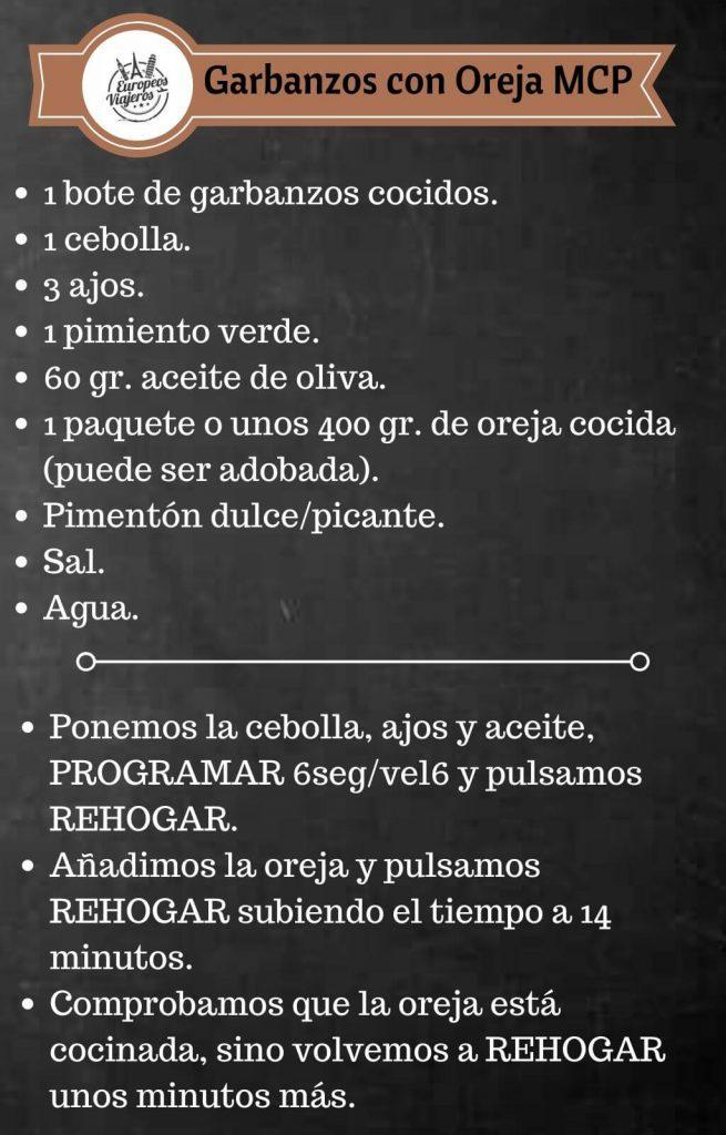 Receta de Garbanzos con Oreja.