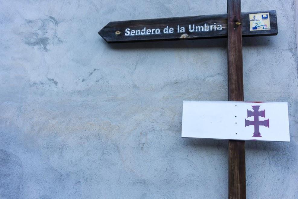 Inicio del Sendero de la Umbria