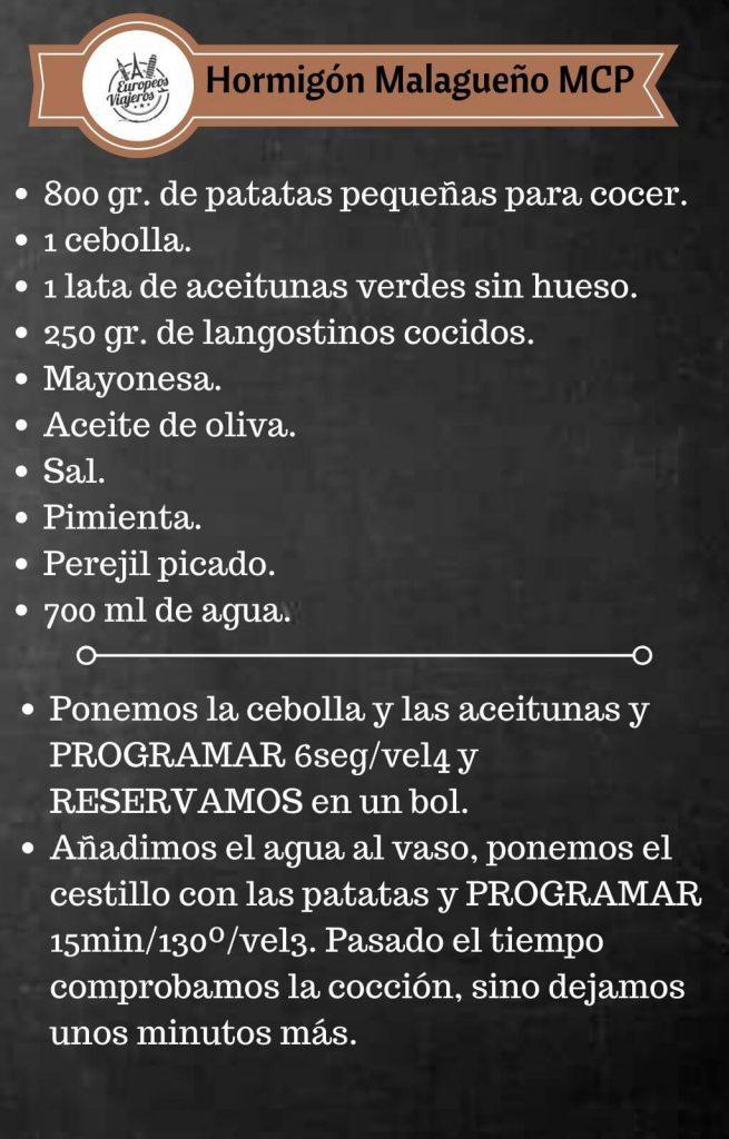 Receta de Hormigón Malagueño.