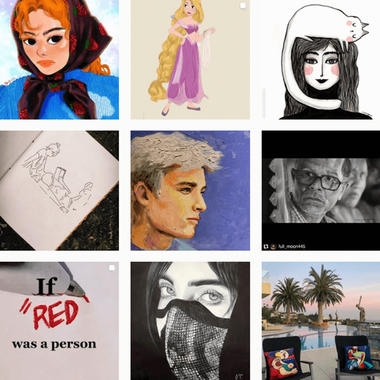 Hashtags artísticos by @Instagram