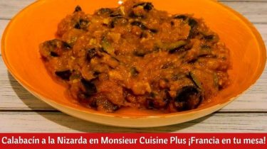 Calabacín a la Nizarda en Monsieur Cuisine Plus.