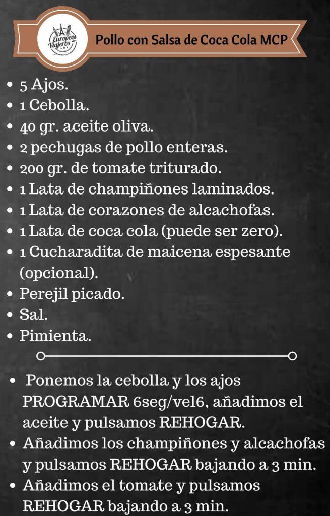 Receta de Pollo con Salsa de Coca Cola.