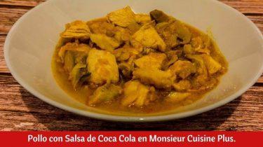 Pollo con Salsa de Coca Cola en Monsieur Cuisine Plus.