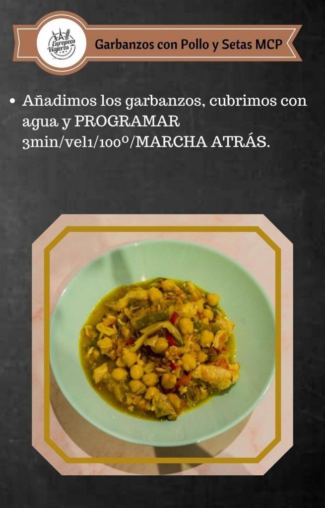 Receta de Garbanzos con Pollo y Setas.