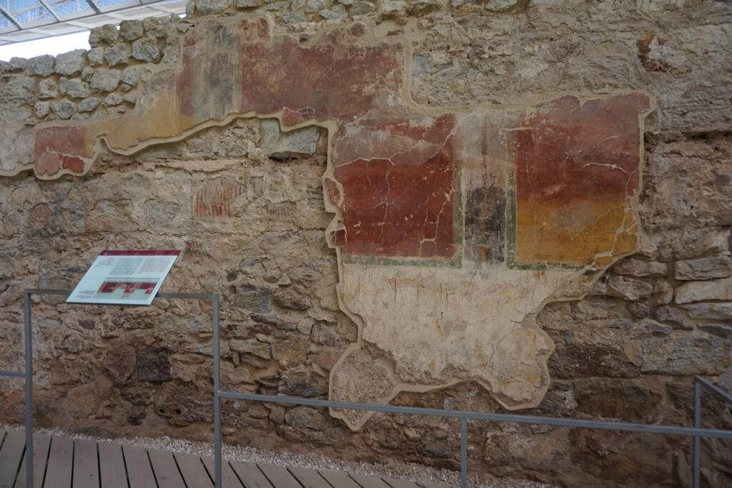 Decoración pictórica en el Barrio del Foro Romano