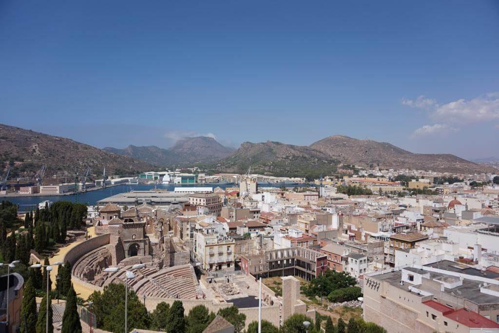 Cartagena desde la zona del Castillo