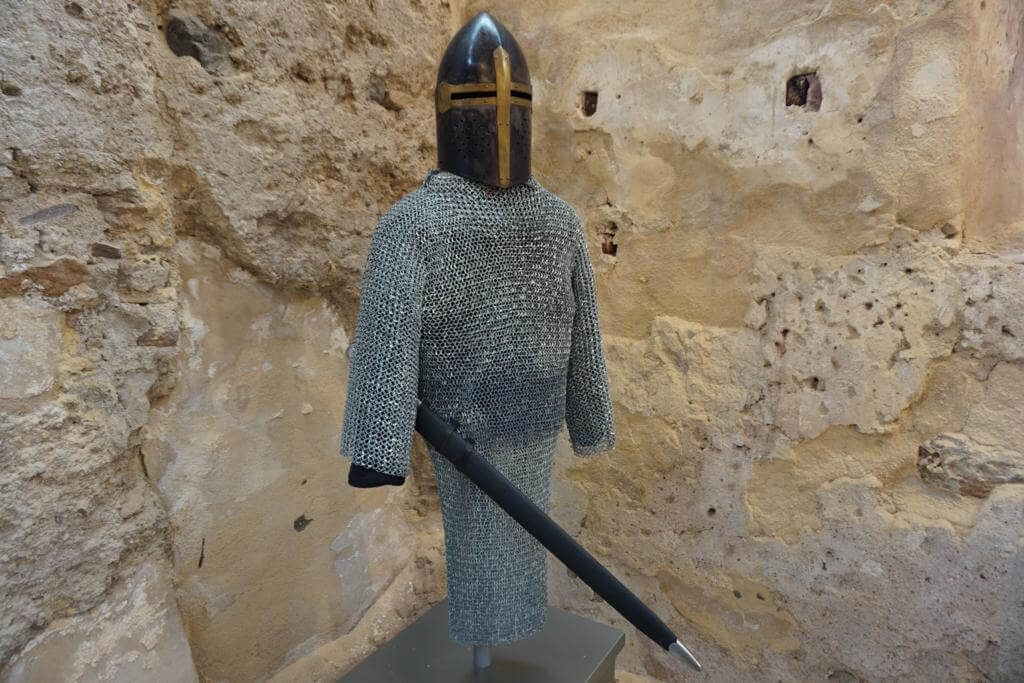 Armadura de soldado en el Castillo de la Concepción