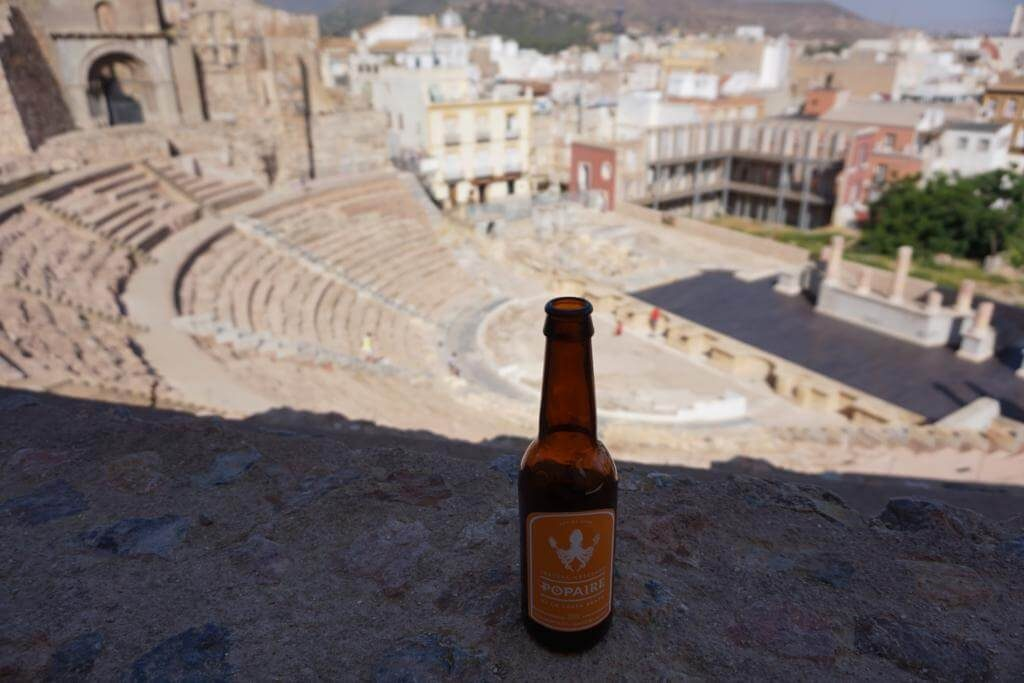 Cervezas Popaire en el Teatro Romano de Cartagena