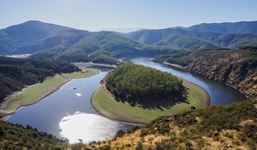Vistas del Meandro del Melero.